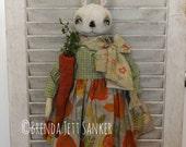 OOAK Primitive Folk Art Bunny Rabbit Doll