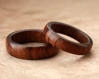 Custom Matching Tamboti Wood Rings - 5mm & 6mm