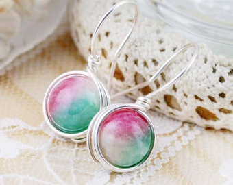 Peaceful and Tranquil earrings - quartzite