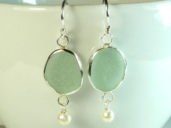 Ready to ship-Aqua Seaglass Gems