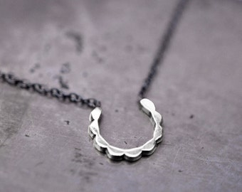 "The setting sun…sterling silver ""sun"" with oxidized sterling silver chain"