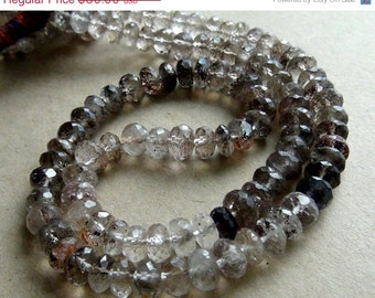 35% OFF Shaded moss amethyst faceted rondelle