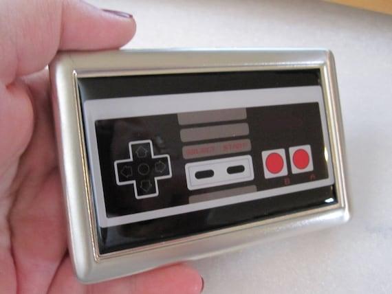 Original Vintage Nintendo controller Inspired  Cigarette or Card Case or Wallet Tin Retro
