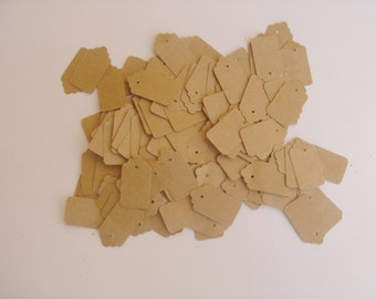 Small Craft Tags, 200 Tags Small Craft Paper Color,  200 SmallTags, Tags With Holes or Tags withoutithout Holes