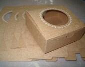 Decorative Window Gift Boxes - Kraft set of (6)