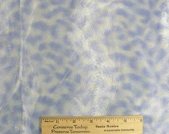 Animal print, Minky, fabric, blue, cream. 1 YARD