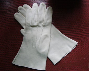 vintage cream gloves