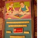 Printer Primer - Vintage Children's Alphabet Stamps - 1940 - REDuCED