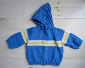 Vintage Hooded Sweater for Baby . Size 18 Months