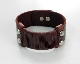 Leather Cuff in Brown Leather Bracelet Leather Bangle