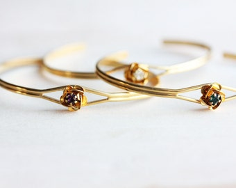 Flower Crystal Bracelet, Rose Bracelet, Flower Cuff, Crystal Cuff, Flower Bracelet, Crystal Bracelet