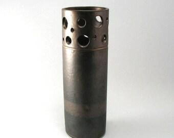 Bronze Vase-Cylinder Vase-Pottery-Stoneware Flower Vase