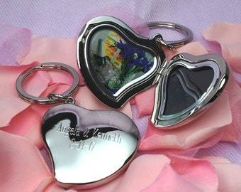 Personalized Heart | Locket Key Chain | Engraved Keychain | Heart Key Chain | Love Keychain   | Photo Frame  | Locket Keychain | Easter Gift