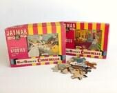 Vintage Walt Disney Cinderella Jaymar Puzzle Set