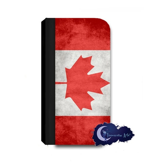 Canadian Flag Wallet Case for iPhone