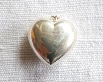 Vintage //// BIG Sterling Silver Heart 80s