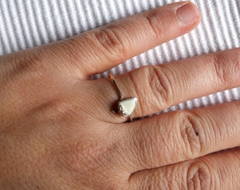 Sterling Silver Ring with strawberry made in bone