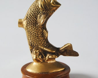 Brass Fish and wood