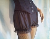 cotton shortie bloomers in black or white