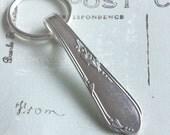 Spoon Key Chain Silverware Keychain Spoon Key Ring Spoon Keychain Meadowbrook aka Heather Pattern