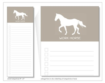 work horse // notepad // list // notes // to do // skel // skel design // skel & co