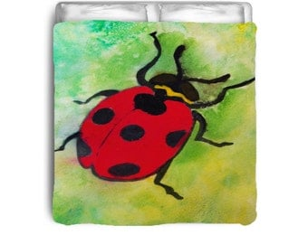 Lady Bug comforter from my art