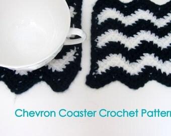Chevron Coasters Crochet Pattern