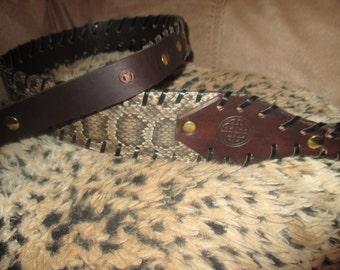 Diamond Back Rattlesnake Rifle Sling with Initials