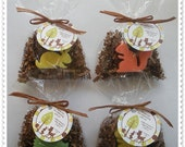 20 Forest Friends Soap Party Shower Favors (Tags Included)