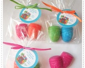 Luau Hawaiian Beach Party Tiki Aloha Mahalo Favors Handmade Soap (20 complete favors with tags-40 soaps)
