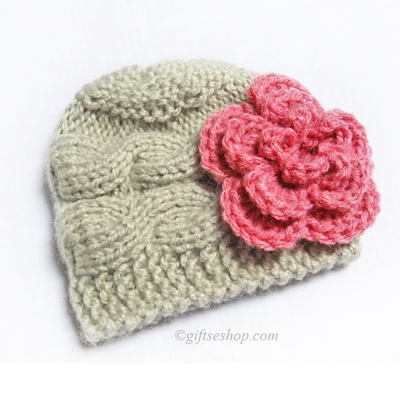 Knitting Patterns For Photography Props : Baby hat knitting pattern newborn cable
