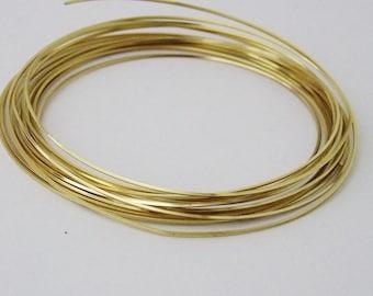 Square 18GA Beadsmith Champagne Gold Color Non Tarnish  Wire 4 Yards