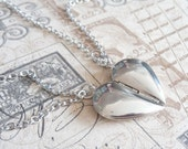 One Heart. Couple or Best Friends Locket Necklaces.