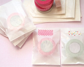 """25 Glassine Bags -- 3-3/4"""" x 6-1/4"""" - MEDIUM size -- Translucent Bags, Favor Bags, Packaging Bags, Party Bags"""