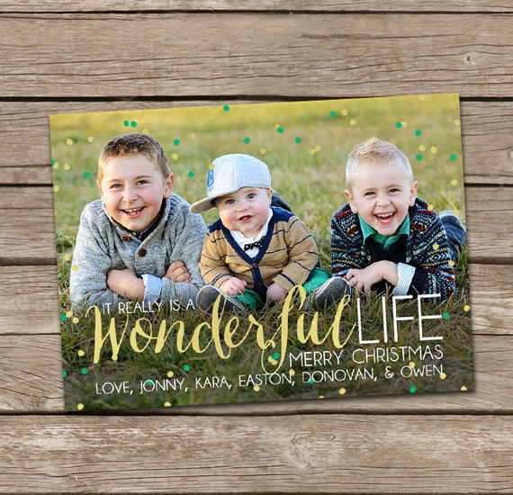 Photo Christmas Card It Really Is A Wonderful Life Custom