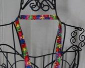 On Sale Autism Awareness Fabric Lanyard School Work