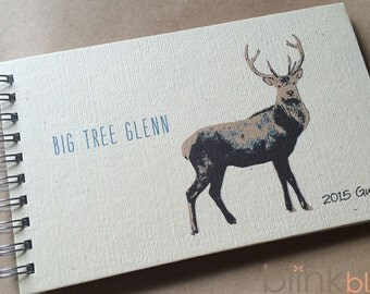 guest book with stag cover