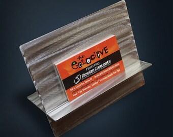 Stainless Steel Business Card Holder Metal Display
