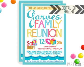 Family Reunion Invitation | Digital or Printed | Summer Family Reunion | Reunion Invitation | Family Party | Summer Party | BBQ | Picnic