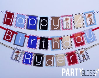 Cowboy Birthday Party Banner Decorations Fully Assembled