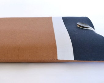 """Dell XPS 13"""" Case, Microsoft Surface Pro 3 Cover, Custom Fit MacBook Air 11"""", 12"""" MacBook, 15.4"""" Laptop Sleeve -  Rust and Navy"""