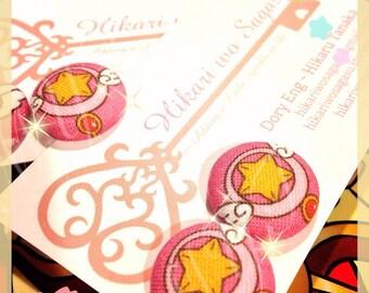 Cardcaptor Sakura Button earrings