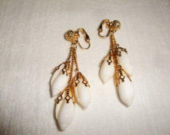 Vintage Clip-on Sea Shell Earrings