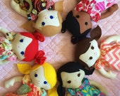 Custom cloth doll you choose hair/eyes/skin tone/girl or boy adoption fundraiser