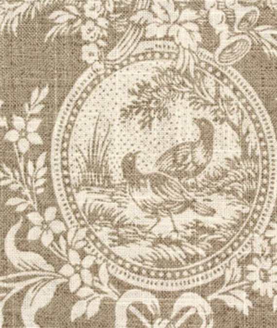 Drapery Panel In Waverly Country House Toile Linen 84