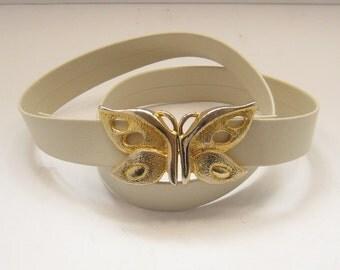 Vintage Mimi Di N Mimi Din Butterfly Belt Buckles Belt 1975
