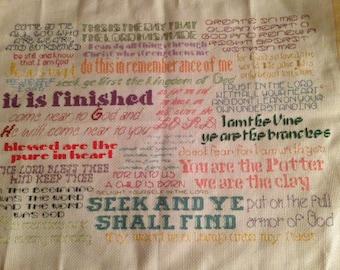 Cross Stitch Bible Verses Pattern