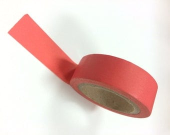 Washi Tape - 10mm - Solid Coral - Deco Paper Tape No. 955