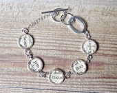 To Kill a Mockingbird Bracelet. Vintage Literature Text Harper Lee Two Cheeky Monkeys Jewelry Jewellery Silver Charm Quirky Words Classic