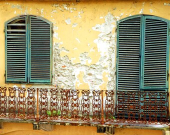 Mustard and Teal, Fine Art Print, Italy, Europe